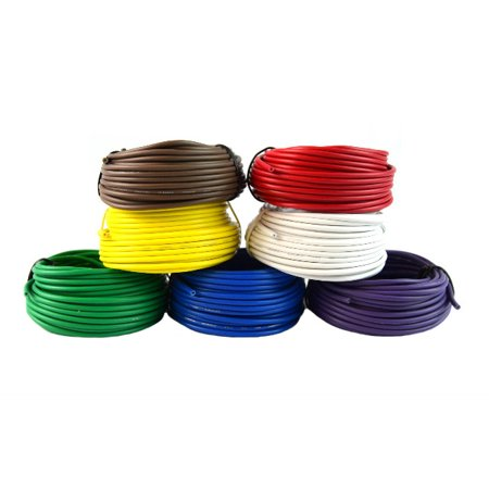18 Gauge Trailer Light Cable Wiring Harness 25 Feet Each 7 Rolls 175 Feet (Best Electrical Wire For House Wiring)