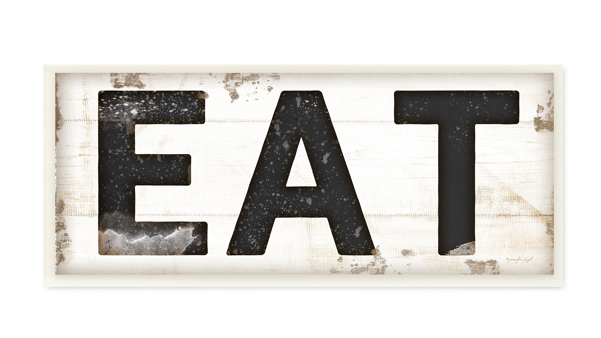 The Stupell Home Decor Collection EAT Typography Vintage Sign Wall Plaque Art, 7 x 0.5 x... by Stupell Industries