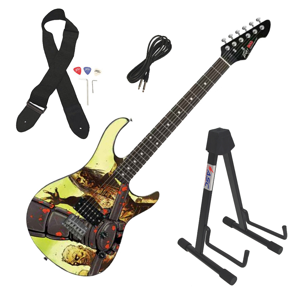 Peavey Rockmaster Full Size The Walking Dead - Riot 26 Electric Guitar & Stand