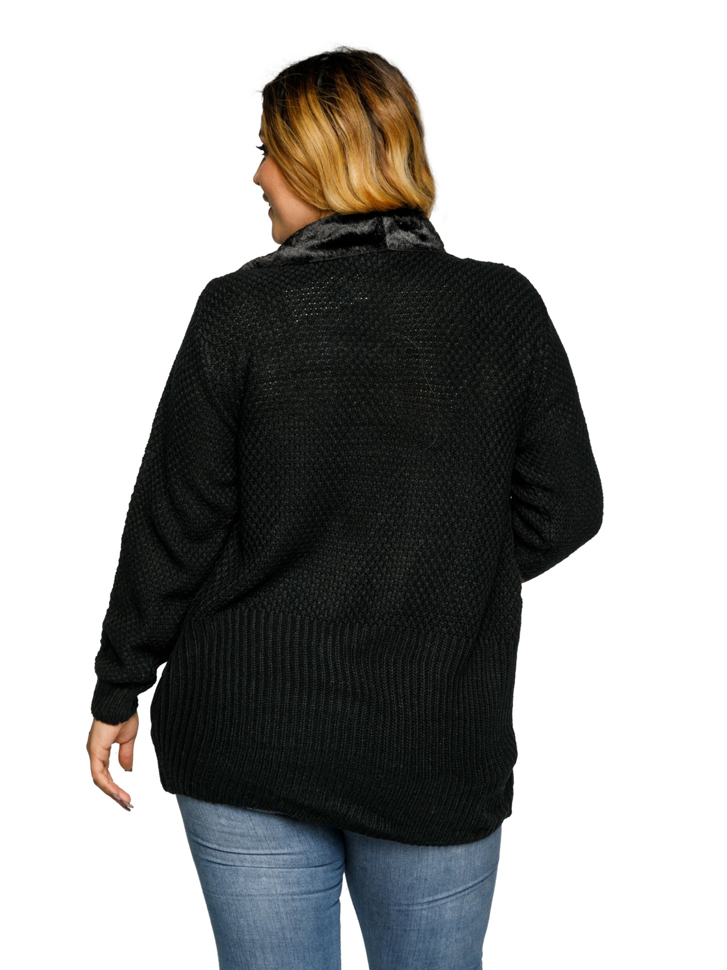 ca2c00961e Xehar - Xehar Women's Plus Size Faux Fur Collar Open Front Cardigan Sweater  - Walmart.com