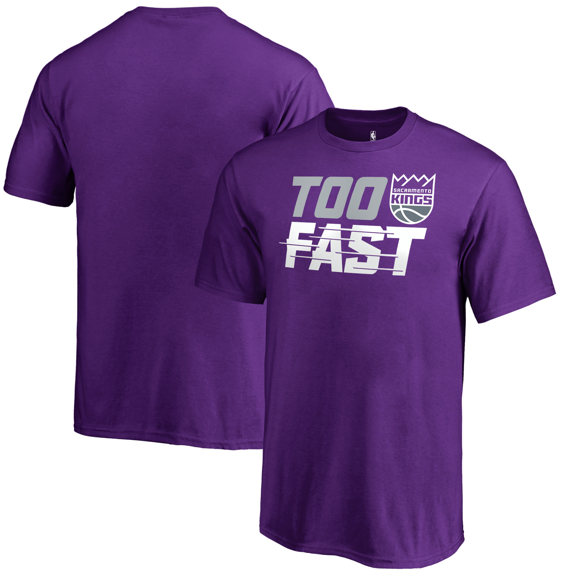 Sacramento Kings Fanatics Branded Youth Too Fast T-Shirt - Purple