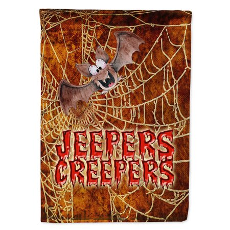 Jeepers Creepers with Bat and Spider web Halloween Garden - Halloween Bats And Spiders