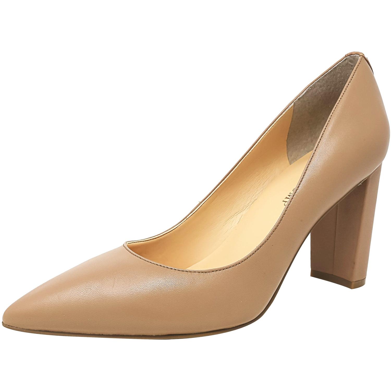 Ivanka Trump Women s Katie Leather Dark Natural Ankle High Pump
