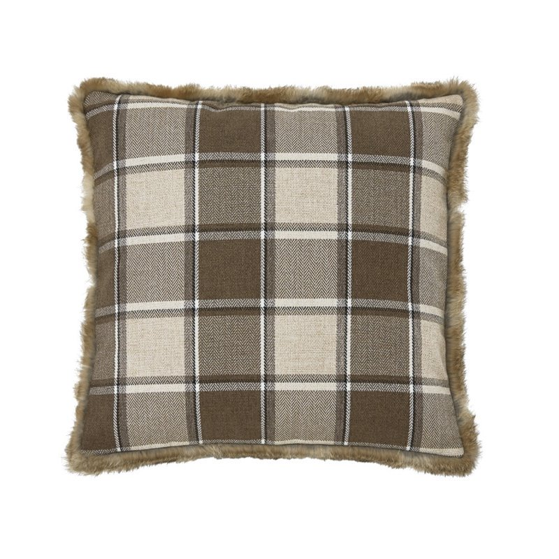 Ashley Smythe Throw Pillow in Brown (Set of 4) by Ashley Furniture