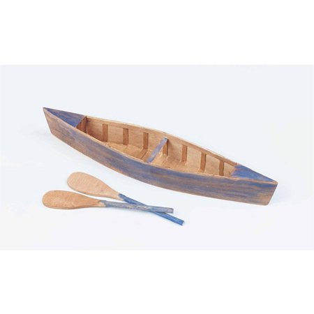 Unfinished Wooden Canoes, Pack of 6