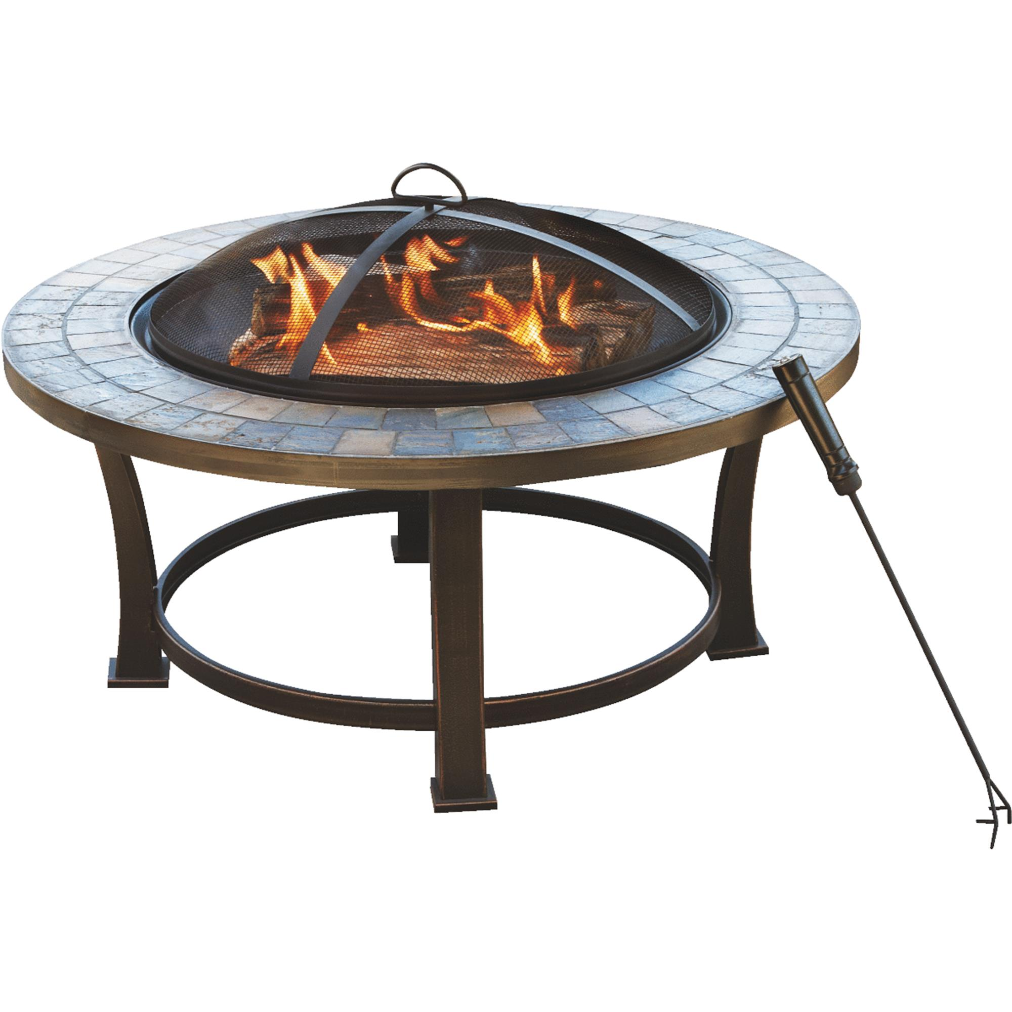 Outdoor Expressions 34 In. Slate Firepit by SIM Supply, Inc.