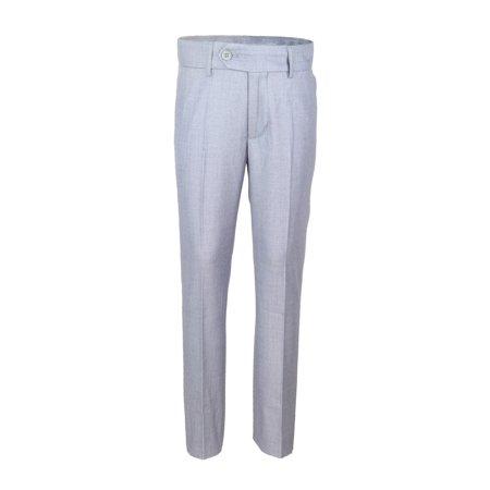 Alfa Perry Little Boys Light Gray Slim Fit-Waist Skinny Fit-Leg Dress Pants