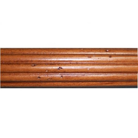 Wood Trends 1 3/8 Inch Fluted Wood Poles (8 Ft Estate Oak)