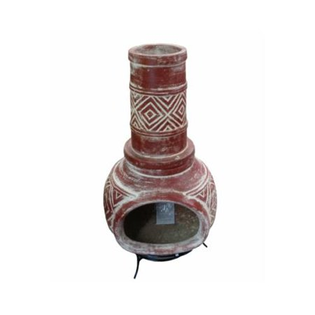 Avera Home Goods Ach001764 Mexican Clay Chimenea Outdoor Fireplace