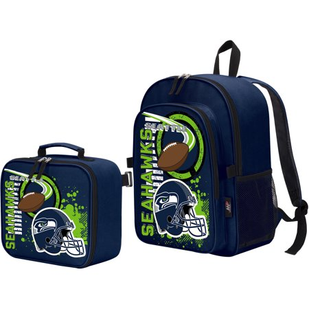 The Northwest Company Seattle Seahawks Accelerator Backpack & Lunchbox - No