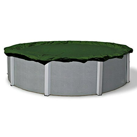 Armor Above Ground - 15 Ft Round Winter Protective Above Ground Pool Solid Cover Arctic Armor Silver Grade Cable Winch 12 Year Warranty