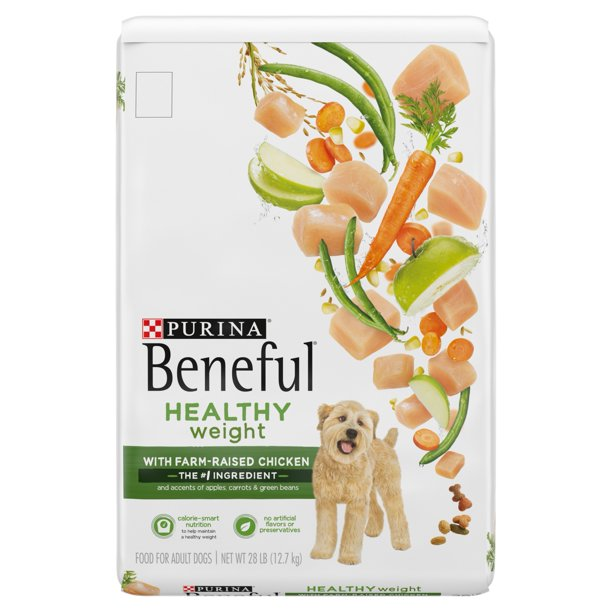 Purina Beneful Healthy Weight With Farm-Raised Chicken, Healthy Weight Dry Dog Food, 28 lb. Bag