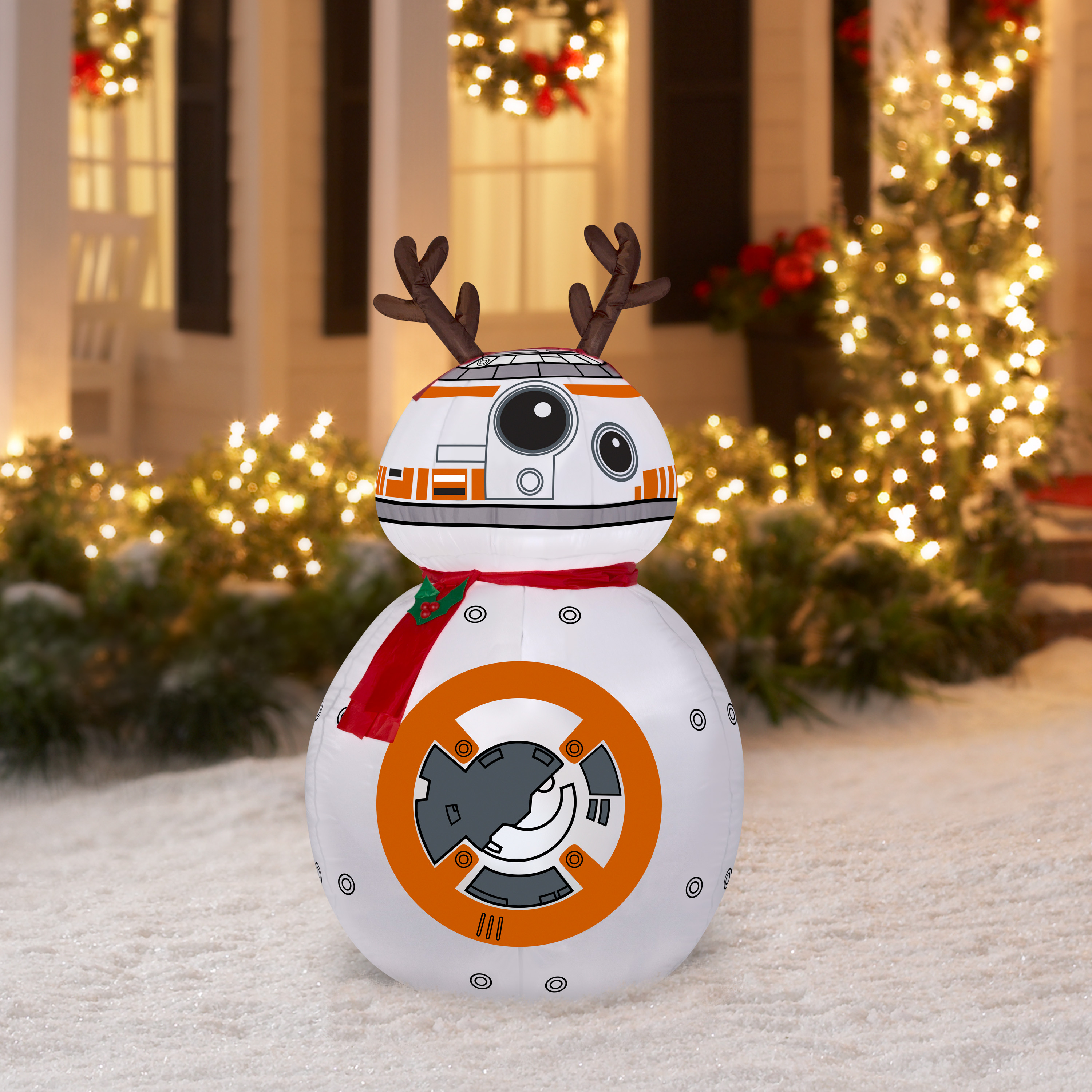 Inflatable Yard Decorations Disney Star Wars BB-8 Airblown Inflatable 42 Lighted Christmas Decoration