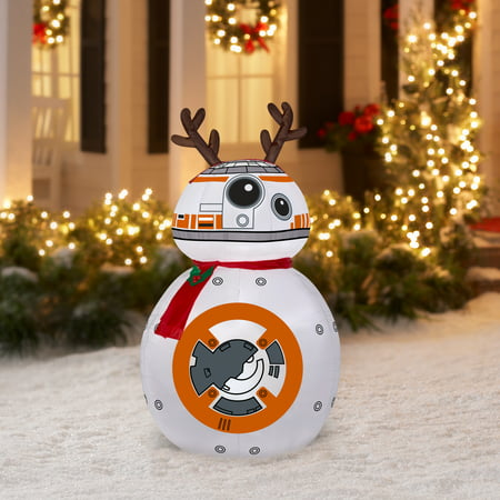 aaefe88f14e2b Airblown Inflatable-BB-8 w Reindeer Ears and Scarf-MD Star Wars 4.5 ...