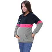 KABOER Women's Multi-function Mother Stitching Breastfeeding Sweater Maternity Dress Hooded Zipper Breastfeeding Simple and Convenient Breastfeeding