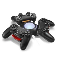APGtek PS4 Controller Charger Docking Station,Tripple Charging Station for PS4 Playstation 4 DS4 DualShock 4 Controllers