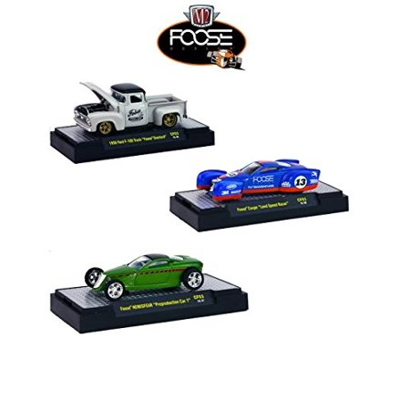 Chip Foose Release 3, 3 Cars Set WITH CASES 1/64 by M2 Machines
