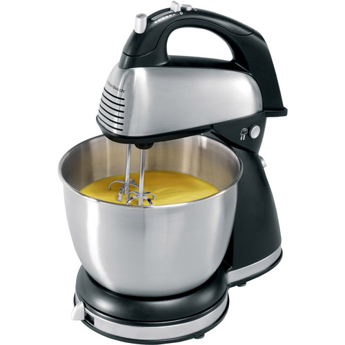 Hamilton Beach Classic Hand and Stand Mixer, Black (64650)