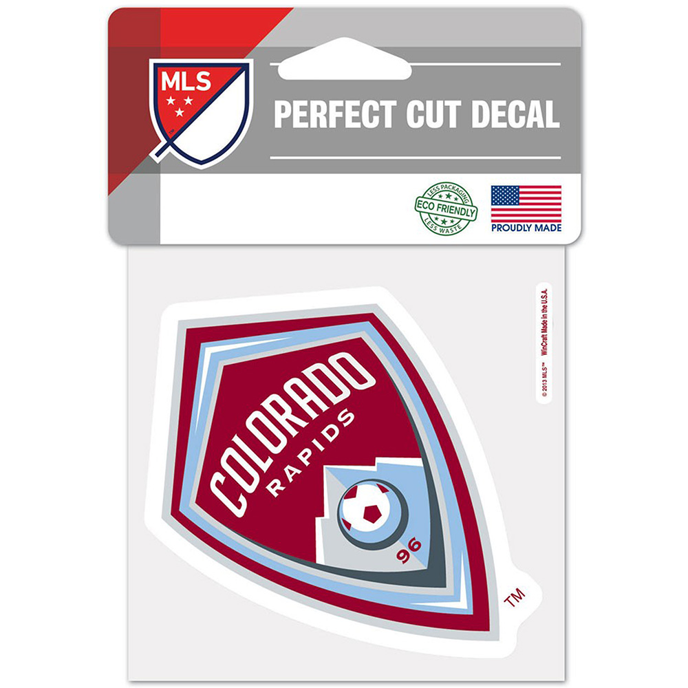 "Colorado Rapids WinCraft 4"" x 4"" Perfect Cut Decal - No Size"