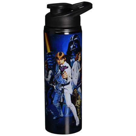 Stainless Steel Iv Stand (Silver Buffalo SW4489ST Star Wars Episode IV: A New Hope Stainless Steel Water Bottle, 25-Ounces )