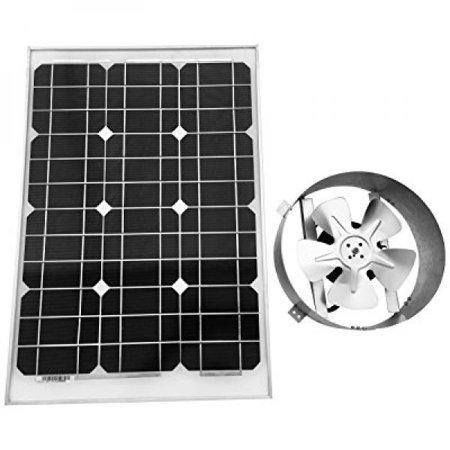 Amtrak Solar Attic Fan  35 Watt Solar Panel  High Efficiency Fan Blades  10 Year Warranty