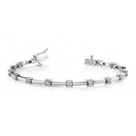 Harry Chad Enterprises 34241 3.5 CT 14K White Gold & Diamond Round Womens Tennis Bracelet - image 1 of 1