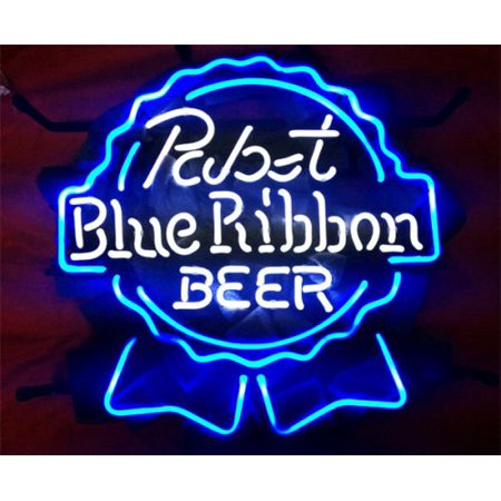 Desung Brand New Pabst Blue Ribbon Logo Neon Sign Lamp Glass Beer Bar Pub Man Cave Sports Store Shop Wall Decor Neon Light 17