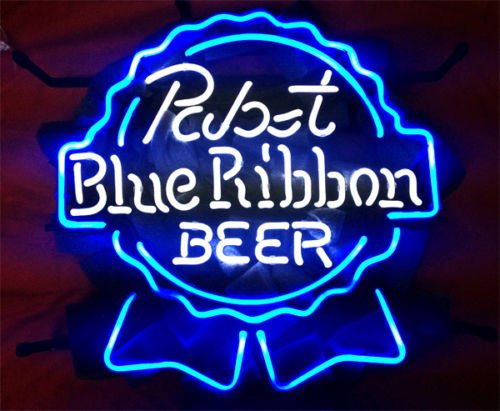 """New Pabst Blue Ribbon Light Lamp Beer Neon Sign 24/""""x20/"""""""