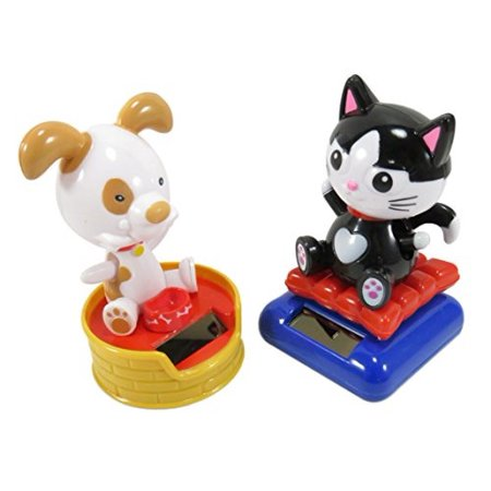 Cute Solar Powered Dancing Happy Dog And Cat Desk and Dashboard Décor 4