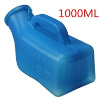 1000ml Blue Male Car Caravan Urinal Urine Bottle Toilet Hiking Camping Travel Bed Tent Pee Portable