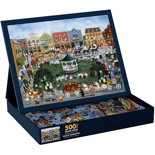 Village Celebration Puzzle, 500 Pieces