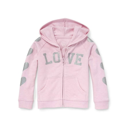 Long Sleeve Full-Zip Hoodie (Baby Girls & Toddler (Toddler Girls Hoodie)