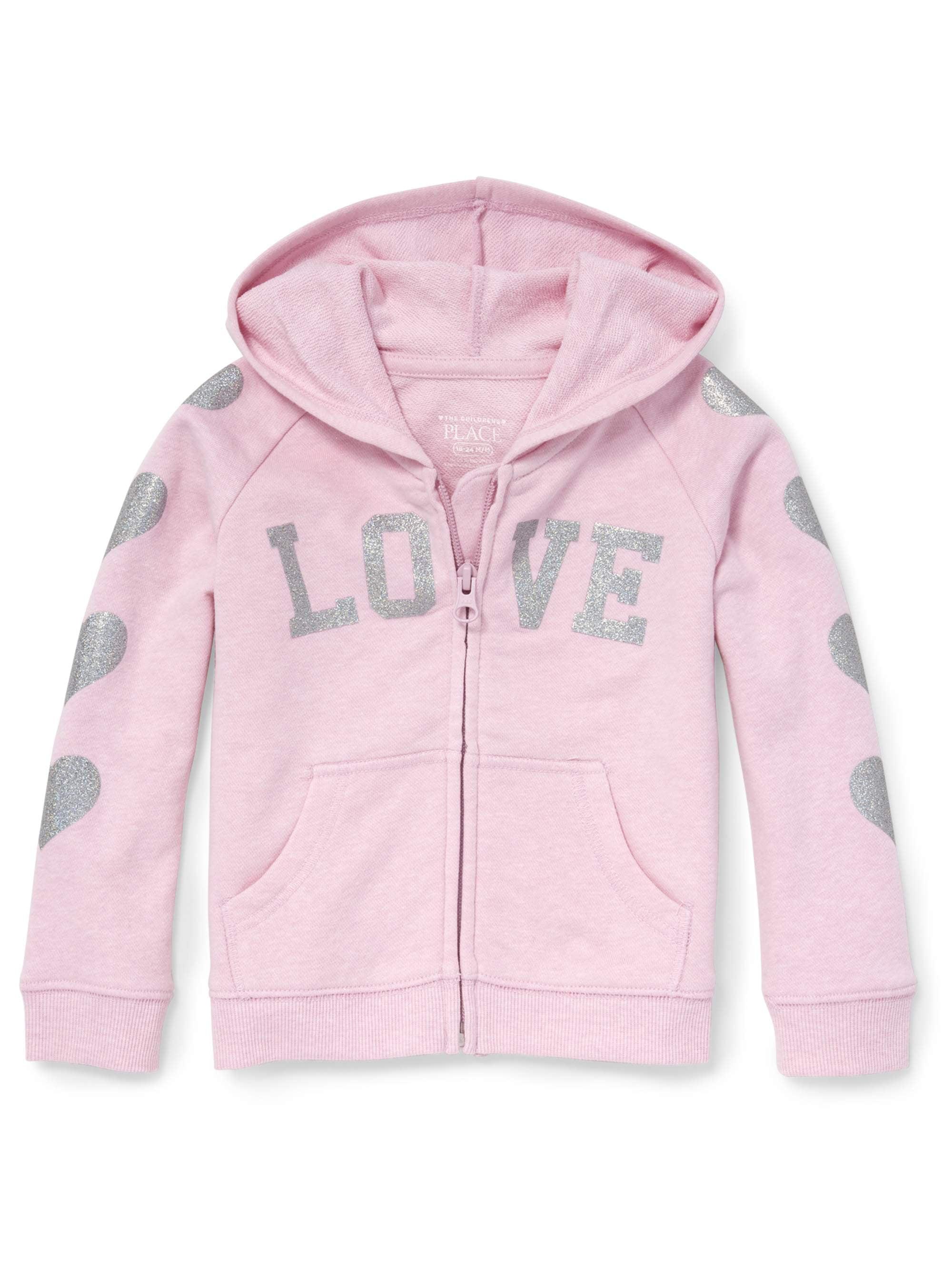 Long Sleeve Full-Zip Hoodie (Baby Girls & Toddler Girls)