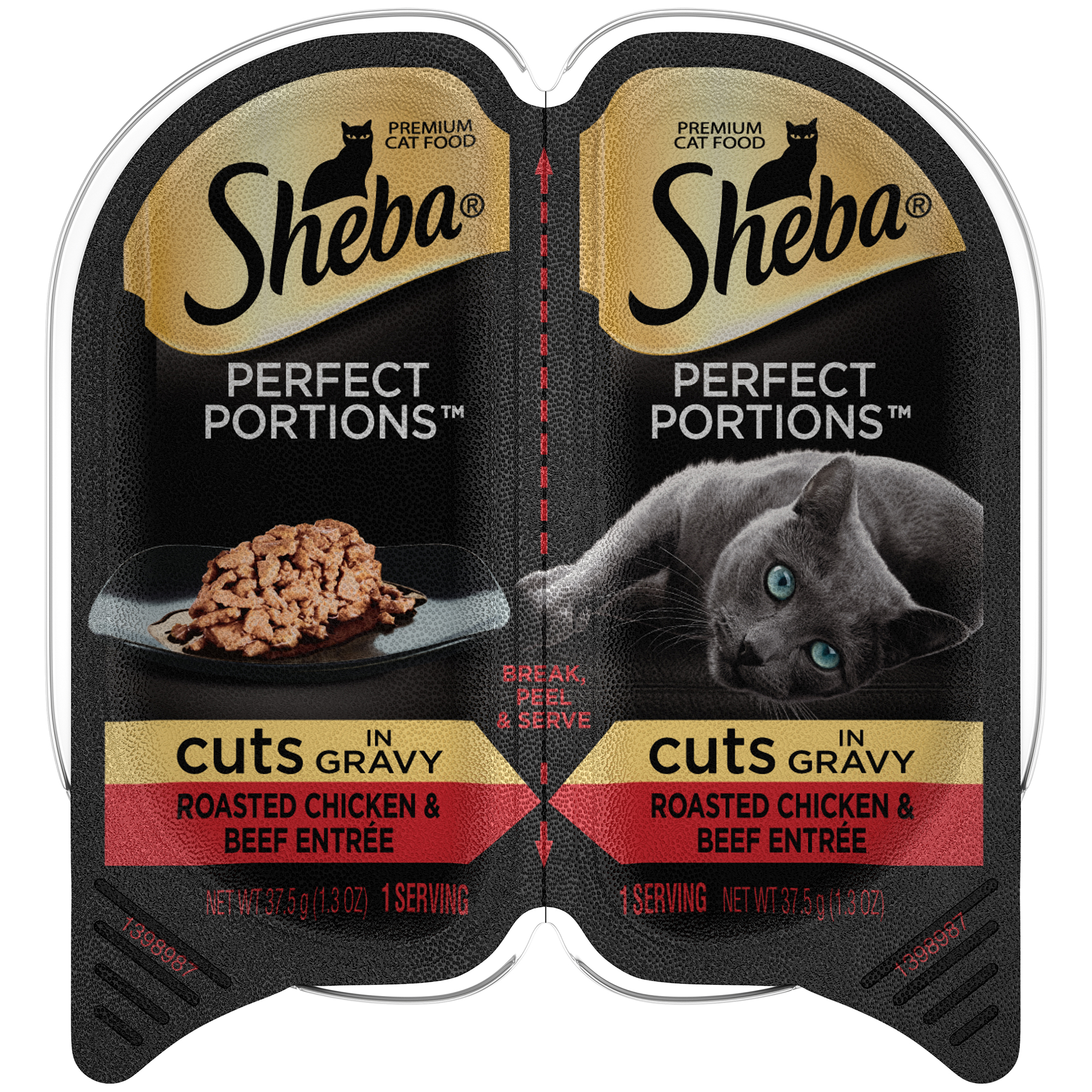 Sheba Perfect Portions Wet Cat Food, Chicken & Beef, 2.6 Oz (24 Twin Packs)