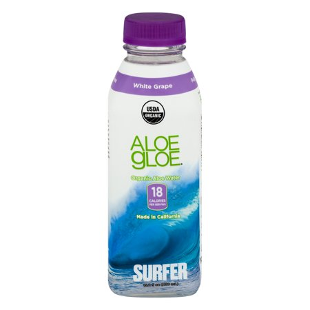 Image of Aloe Gloe Organic Aloe Water White Grape, 15.2 FL OZ