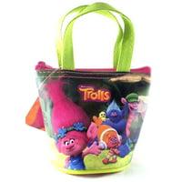 "Party Favors Dreamworks Trolls 4"" Family Small Handbag/Purse/Wallet-Green"