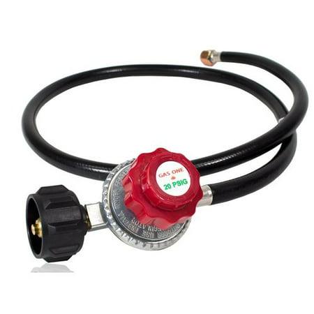 (Gas One 4 ft Propane High- Pressure 0-20 PSI Adjustable Regulator and Hose)