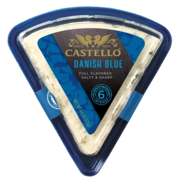 Danish Blue Cheese Wedge (Castello) 4.4 oz