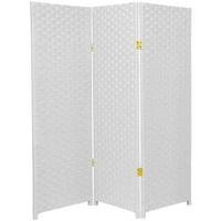 Oriental Furniture Woven Fiber Room Divider (3, 4, 5, 6, 8 Panels)