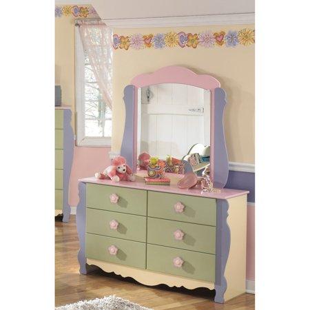 dresser with mirror walmart Signature Design by Ashley Doll House Dresser and Mirror   Walmart.com dresser with mirror walmart
