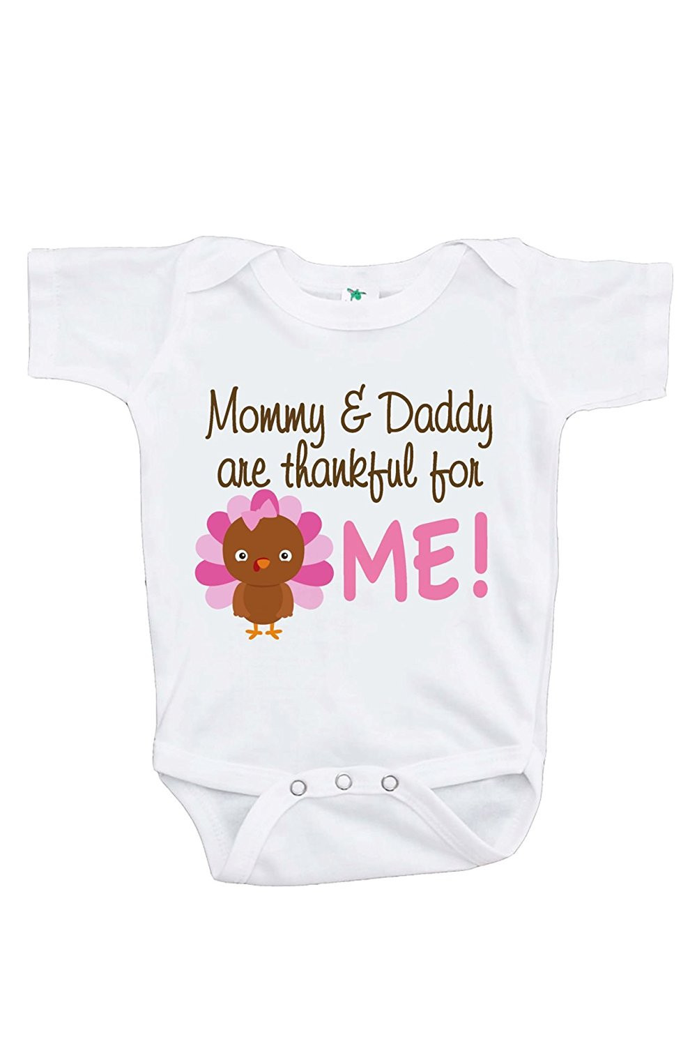 419b5329c Custom Party Shop Baby Girl's Thankful For Me Thanksgiving Onepiece - 6-12  Month Onepiece