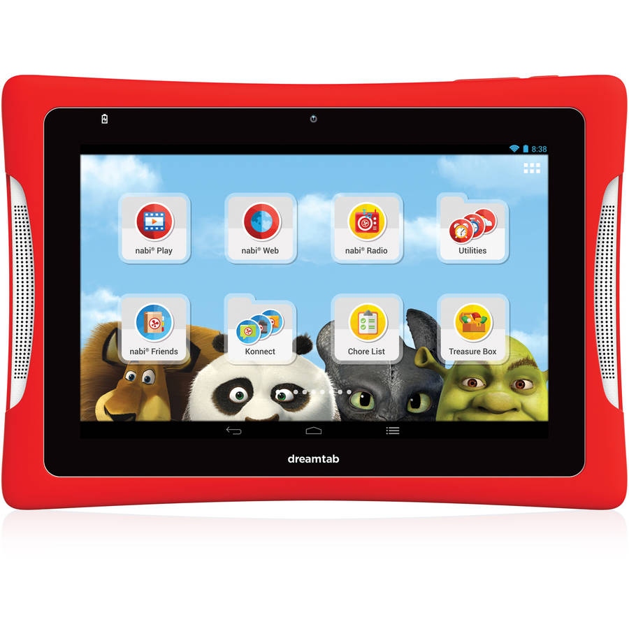 "Refurbished nabi DreamTab HD8 with WiFi 8"" Touchscreen Tablet PC Featuring Android 4.4 (KitKat) Operating System, Red"