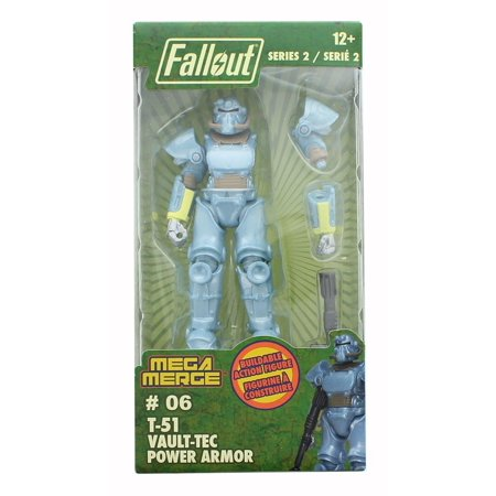 Fallout 4-Inch Mega Merge Action Figure Series 2 - T-51 Vault-Tec Power (Best Fallout 4 Power Armor)