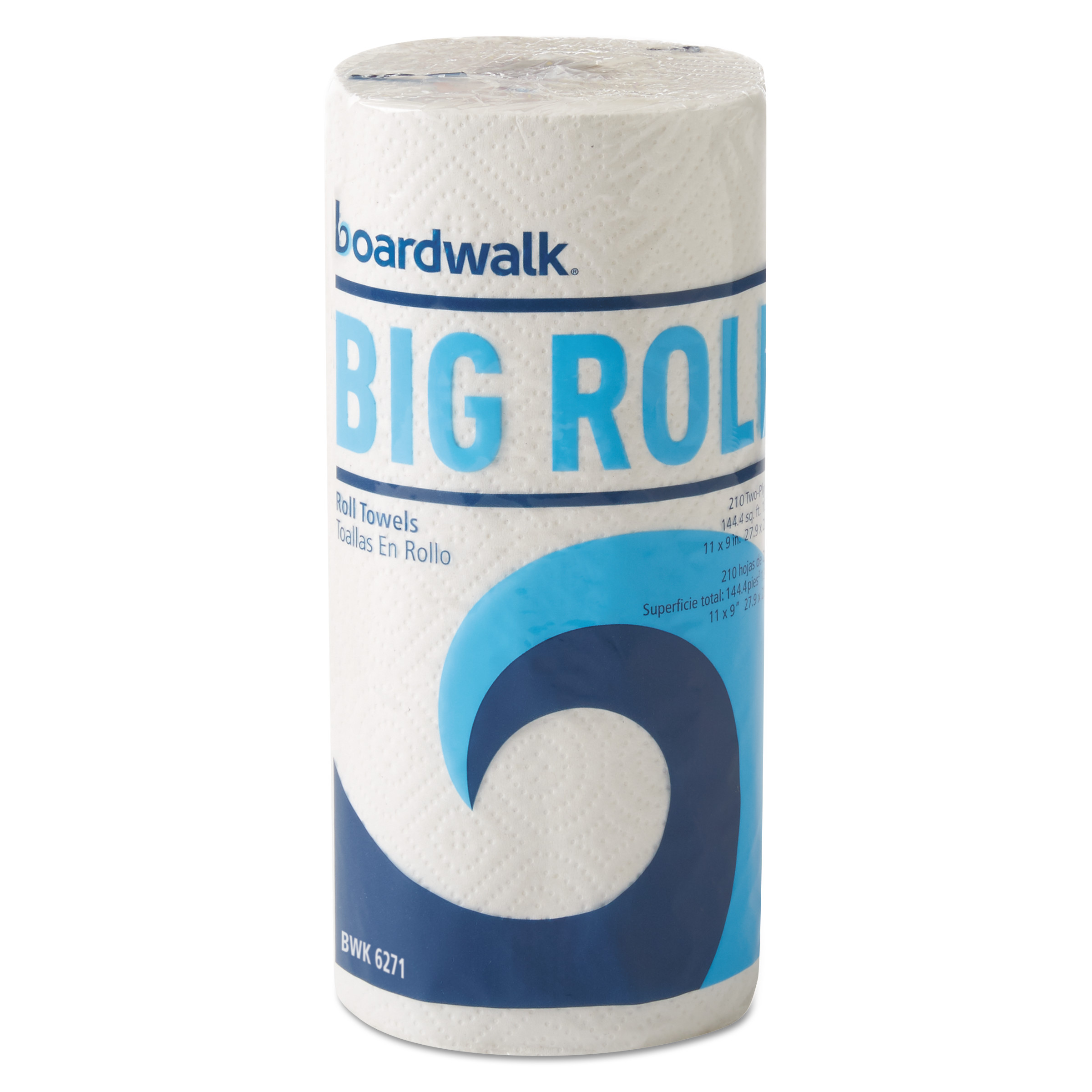 "Boardwalk Office Packs Perforated Paper Towel Rolls, 2-Ply,White, 9"" x 11"", 210/Roll,12/Ct -BWK6271"