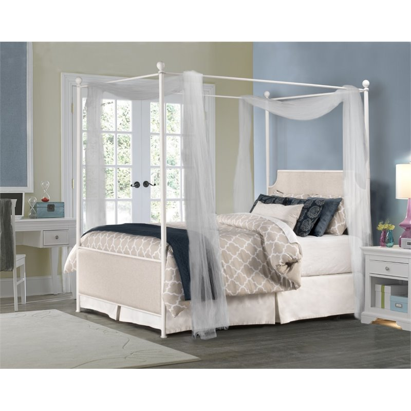 Hillsdale McArthur Queen Panel Canopy Bed in Oatmeal by Hillsdale