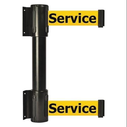 TENSATOR 896T2-33-STD-YEX-C Belt Barrier, 7-1/2 ft, Out Of Service