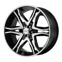 American Racing mainline 17x8 6x139.7 25et 106.25mm gloss black machined wheel