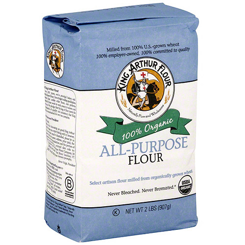 King Arthur Flour All Purpose Organic Flour, 2 lb (Pack of 12)