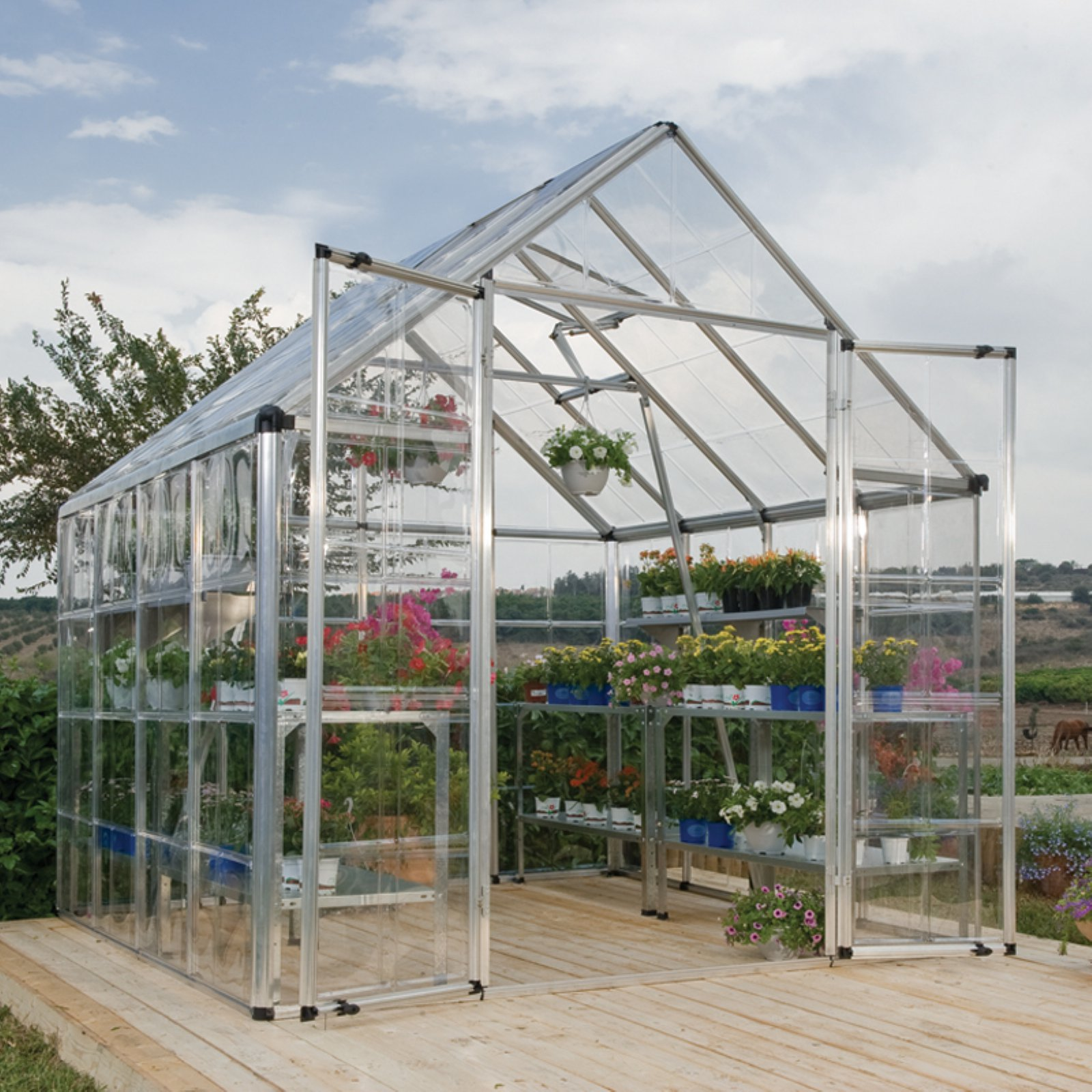 Palram Snap & Grow 8' x 8' Greenhouse