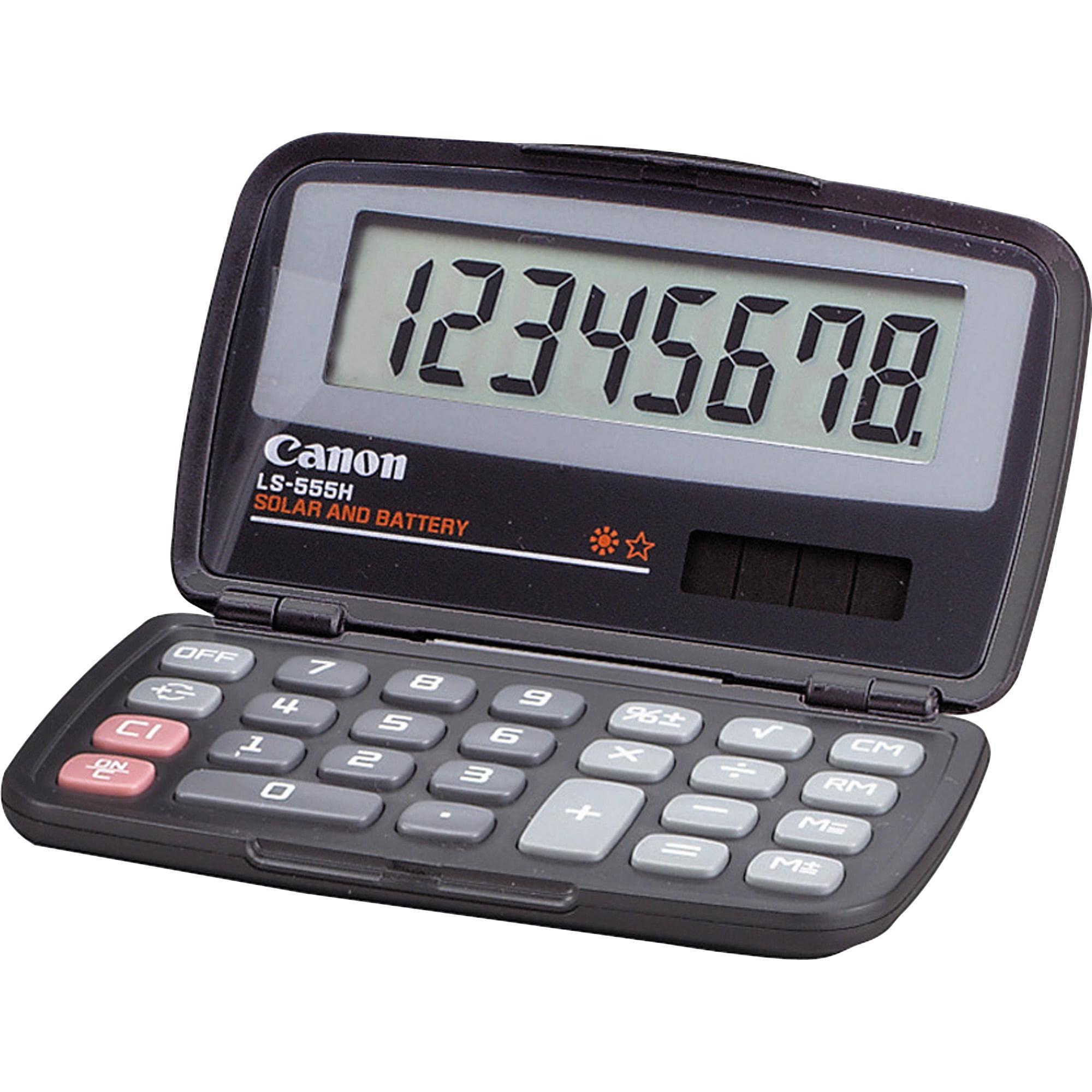 Canon LS555H Wallet Calculator, Black, 1 Each (Quantity)
